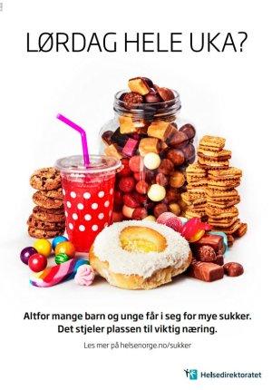 Plakat om sukker